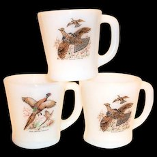 Fire King Game Birds Design Mug