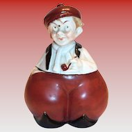 Hand Painted Porcelain Character Ink Bottle - Germany