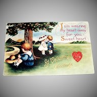 Whitney: St. Valentines Greetings Postcard