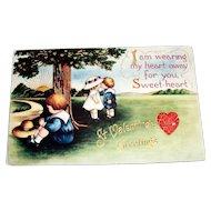 Whitney: St. Valentines Greetings Postcard