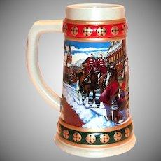 Budweiser 1993 Hometown Holiday Stein