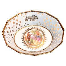 Fr. St. Bavaria Germany Opened Lace Trim Small Bowl
