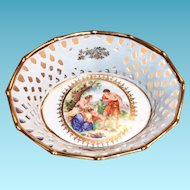 Fr. St. Bavaria Laced Rim & Cameo Design Bowl