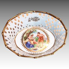 Fr. St. Bavaria Laced Rim & Cameo Design Bowl