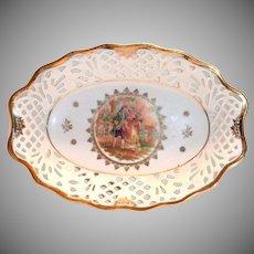 Bavaria Fr. St. Renaissance Courting Couple Design Open Laced Bowl