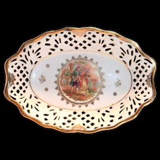 Bavaria Fr. St. Renaissance Courting Couple Design Open Laced Bowl