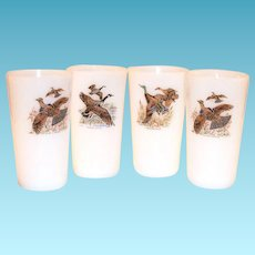 Fire  King Game Birds Pattern 11 Oz Tea Glass