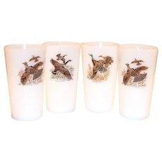 Fire  King Game Birds Pattern 11 Oz Tea Glass
