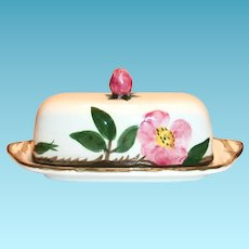Franciscan Desert Rose Earthenware Covered Butter Dish