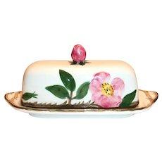 Franciscan Desert Rose Earthenware Covered Butter Dish
