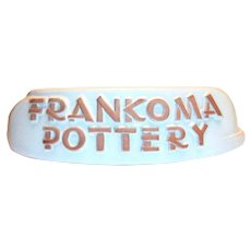 Frankoma Pottery Display Name Plate