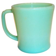 Fire King Jadite Glass D Handle Mug