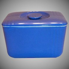 Hall China Periwinkle Blue Covered Refrigerator Dish