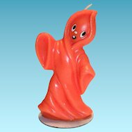 Gurley Halloween Orange Colored Ghost Candle