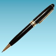 Montblanc-Meisterstuck Ballpoint Pen With 22K Gold Plated Trim