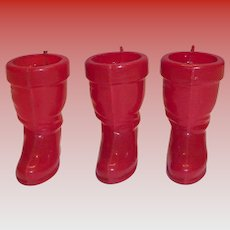 Rosbro Mini Plastic Red Christmas Boot Candy Holder