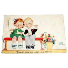 Attwell: Thanks For The Jolly Ole Party! Postcard
