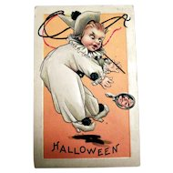Halloween Postcard (Child in Costume Sees Their Future in the Mirror)