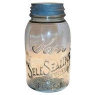 1915 Kerr Self Sealing 1 Qt Mason Jar