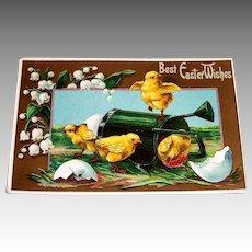 J. B. & Co.: Best Easter Wishes Vintage Postcard