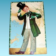 """""""The Top O' The Mornin' To You"""" St. Patrick's Day Postcard - Signed"""
