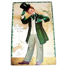 """The Top O' The Mornin' To You"" St. Patrick's Day Postcard - Signed"