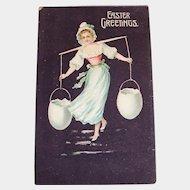 Vintage Easter Greetings Postcard - 1911