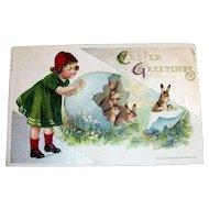 "Winsch: 1911 ""Easter Greetings Postcard"