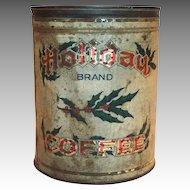 Old Holiday Brand Coffee Tin