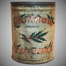 Old Holiday Brand Coffee Tin