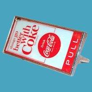 Drink Coca Cola Metal & Celluloid Door Handle