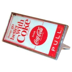 Drink Coca Cola Metal & Celluloid Door Handle