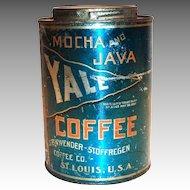 Yale Mocha And Java Coffee Tin - 1910