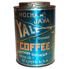 Yale Mocha And Java Coffee Tin - 1910