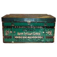 "Blanke's ""Happy Thought"" Coffee Chest Tin"