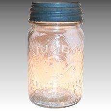 Jumbo Brand Peanut Butter Jar