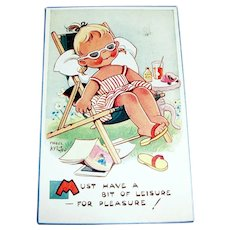 Attwell: Must Have A Bit Of Leisure--For Pleasure! Postcard