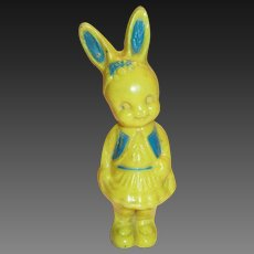 Irwin Yellow & Blue Plastic Rabbit Rattle
