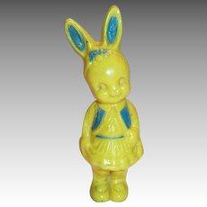 Irwin Yellow & Blue Plastic Rabbit Rattle