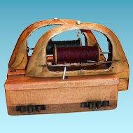 1920's Double Textile/Ribbon Wooden Shuttle