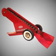 Tonka Toys Red Metal Toy Sandloader