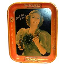 Dr Pepper 1930's Metal Serving Tray
