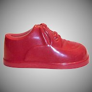 1950's Poll-Parrot Shoes Novelty Red Plastic Shoe Bank