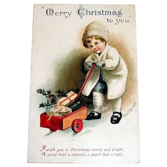 Merry Christmas To You Postcard Signed Clapsaddle