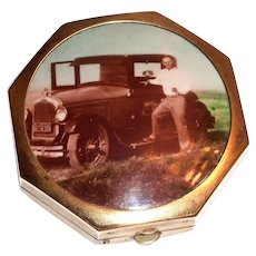 Photo Top Gold Tone Compact