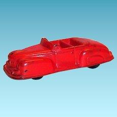 Auburn Rubber Toy 1946 Lincoln Convertible 2 Door Car