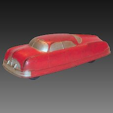 Auburn Rubber Futuristic Toy Sedan Car
