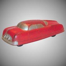 Auburn Rubber Futuristic Toy Sedan Car