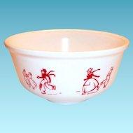 "Hazel Atlas Dutch Design 7""Rd Bowl"