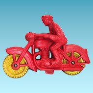 Auburn Model A-520 Motorcycle Cop Toy - 1953